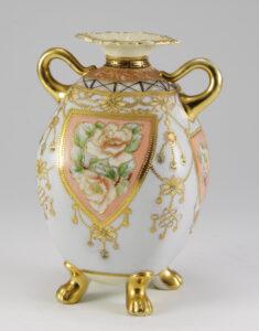 花鳥文角花瓶